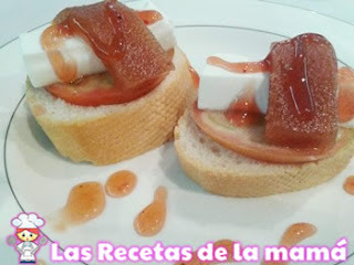 Receta de Montaditos de membrillo con queso