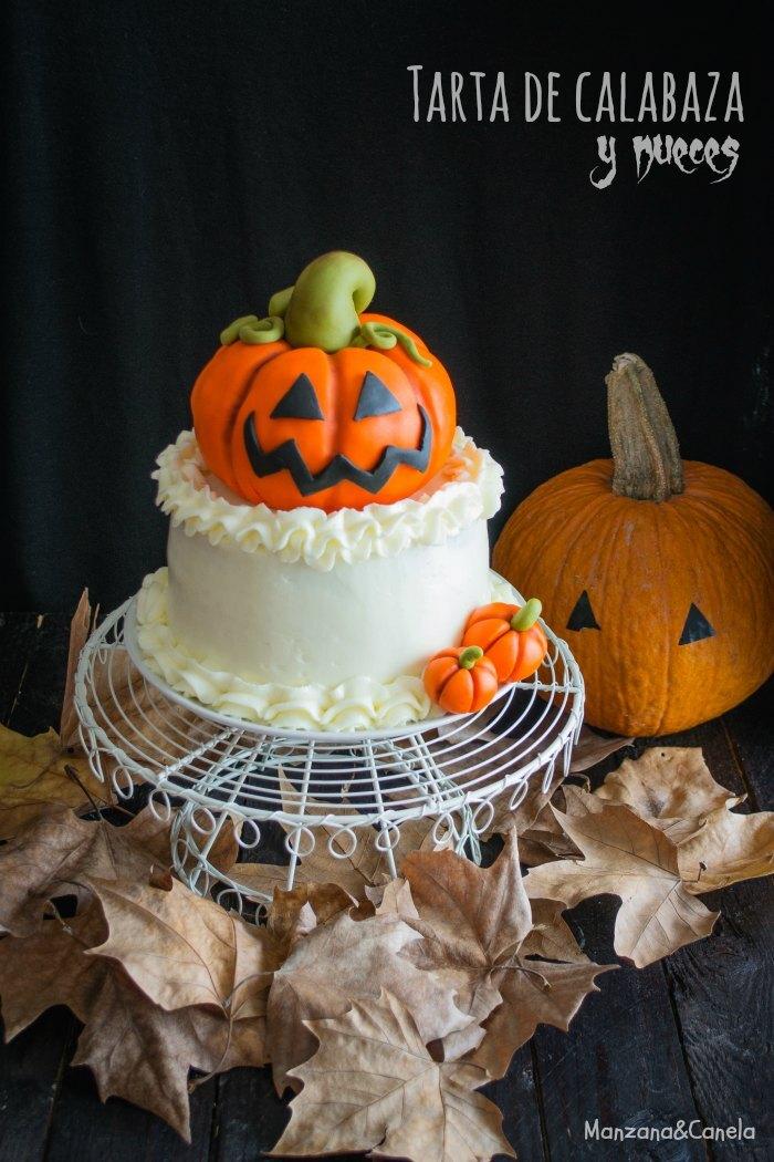 Layer cake de calabaza y nueces