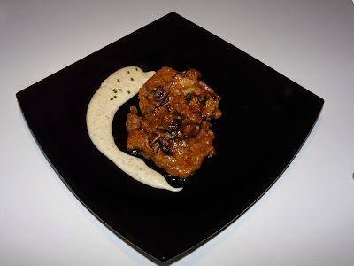 Vedella al forn amb emulsió de Patata i Camagrocs