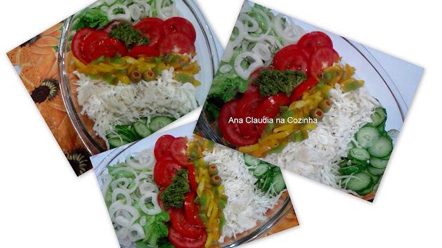 salada para jantar italiano