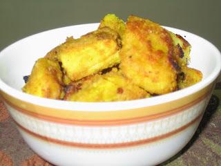 Tawa fried Yam