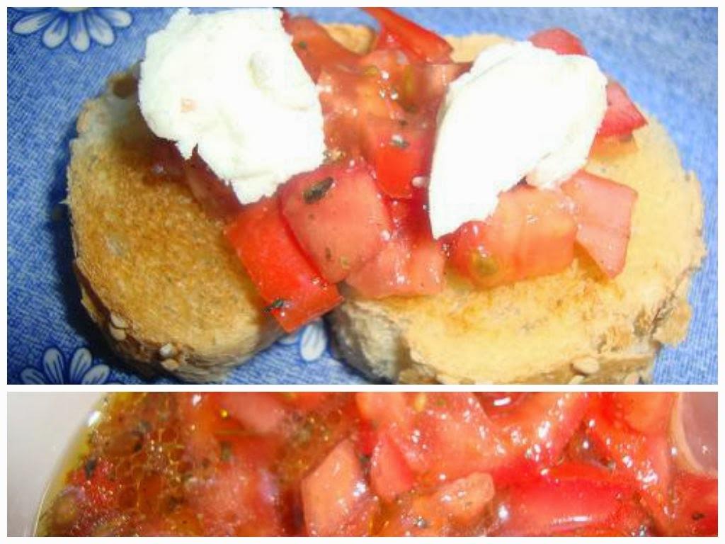 Bruschetta de Tomate y Queso de Cabra