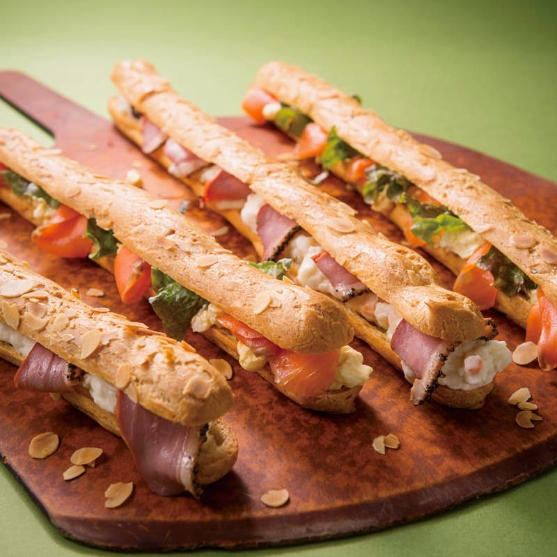 Receta para hacer sándwich de salmón y prosciutto