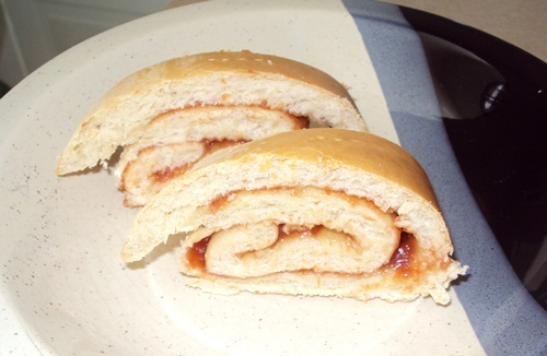 pão de minuto recheado com goiabada