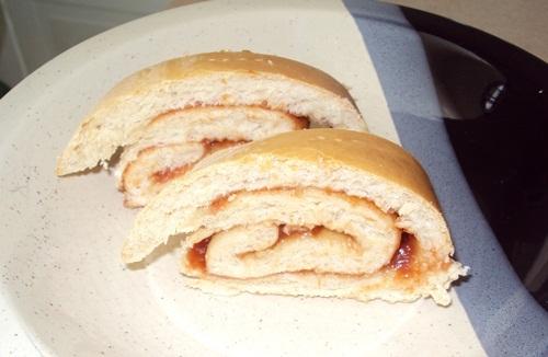 pão salgado recheado massa mole