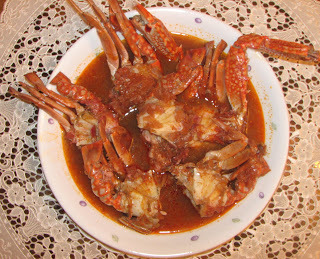 Crab Curry (Chilli based - Mangalore Konkani style)