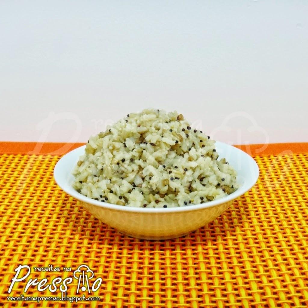 como fazer arroz 7 grãos na panela de pressão