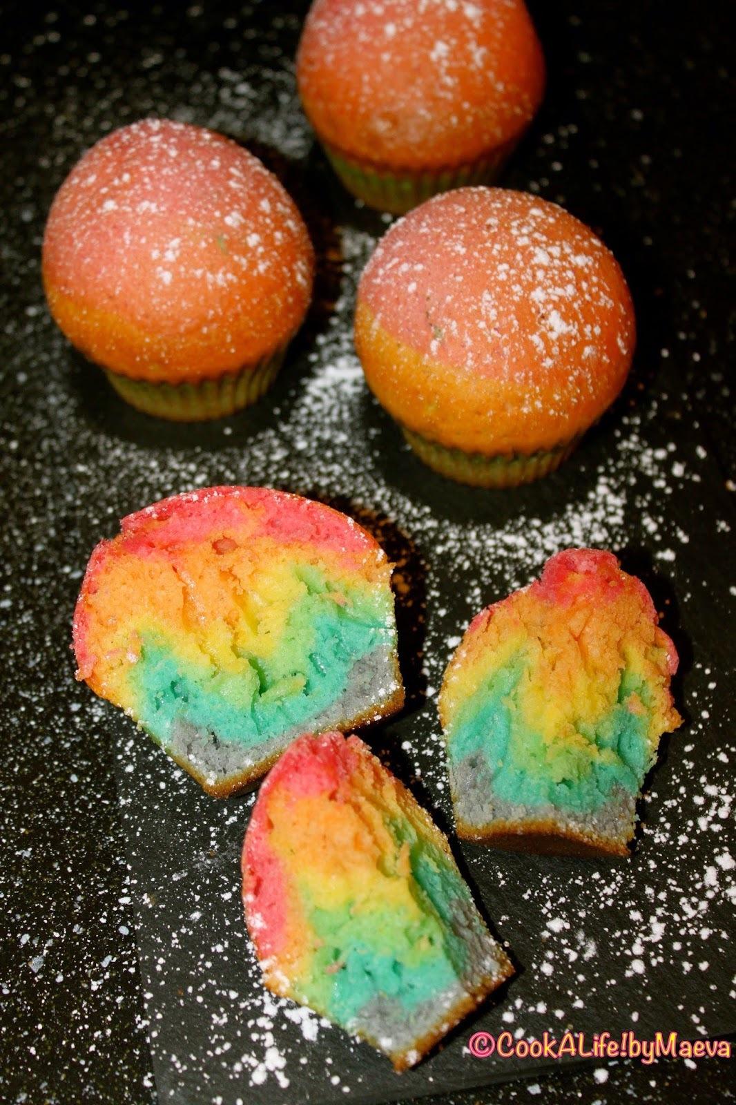 Rainbow Muffins  [ 1er anniversaire du blog ]