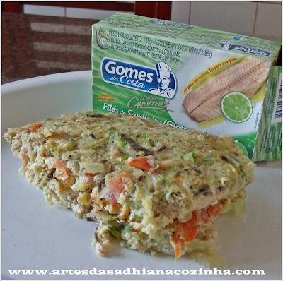 omelete de forno com farinha de trigo