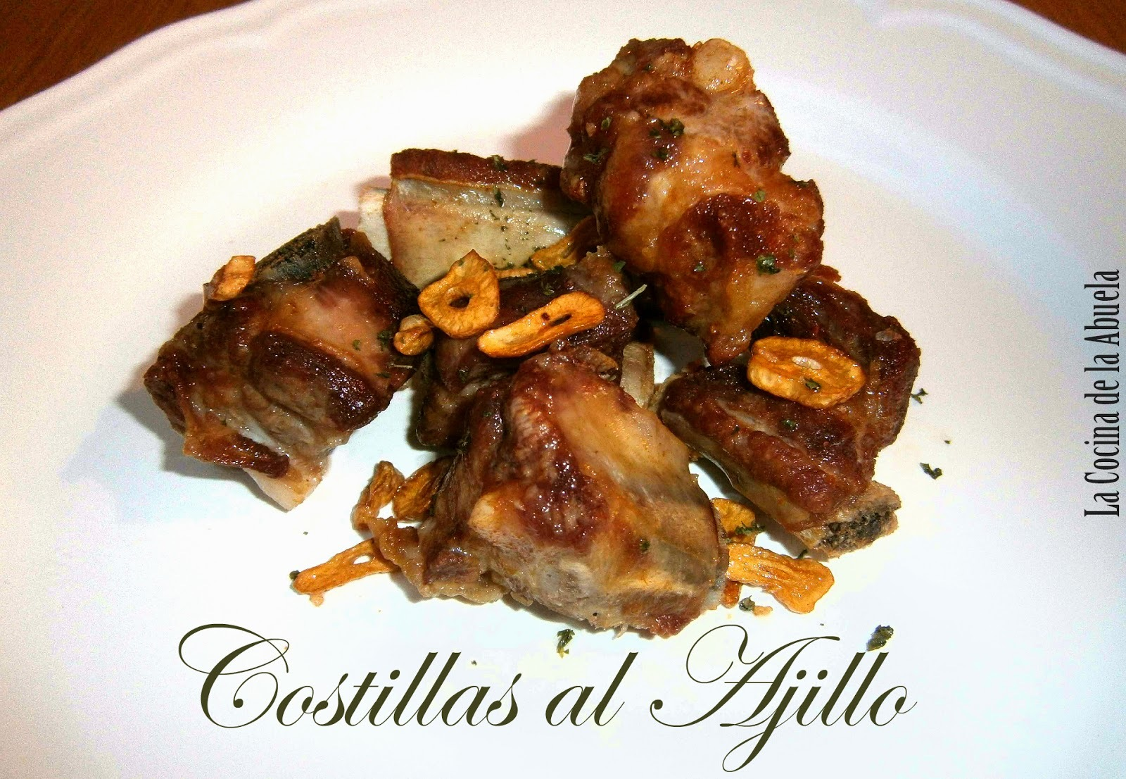 Costillas al Ajillo.