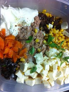 Torta de arroz integral com recheio de atum, legumes e ricota (MASSA SEM LACTOSE)
