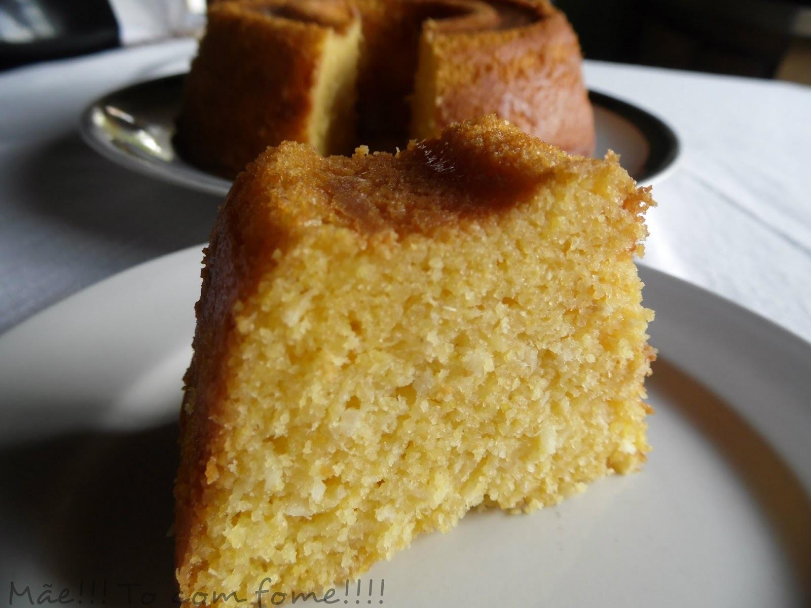 de bolo de milho verde com leite condensado coco e milharina
