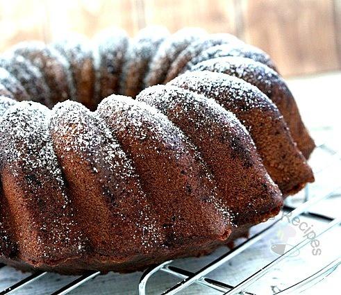 Black Russian Bundt Cake ~ 尔罗斯黑蛋糕