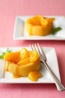 Pudding de mandarinas humedo y facil