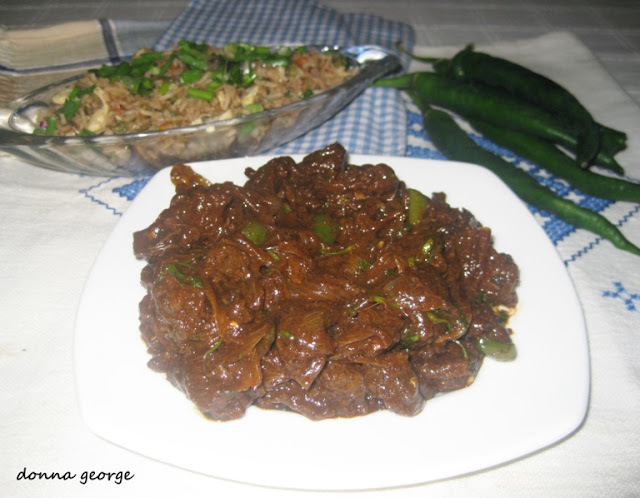 "Chilli Beef to say ""Happy B'day Reju"" !"