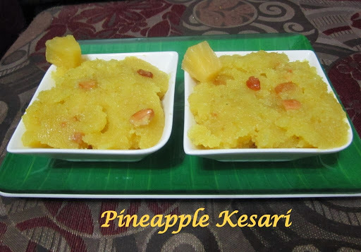 Pineapple Kesari/ Kesari/ Indian Smolina Cakes