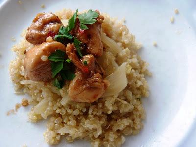Édesköményes quinoa csirkemellel