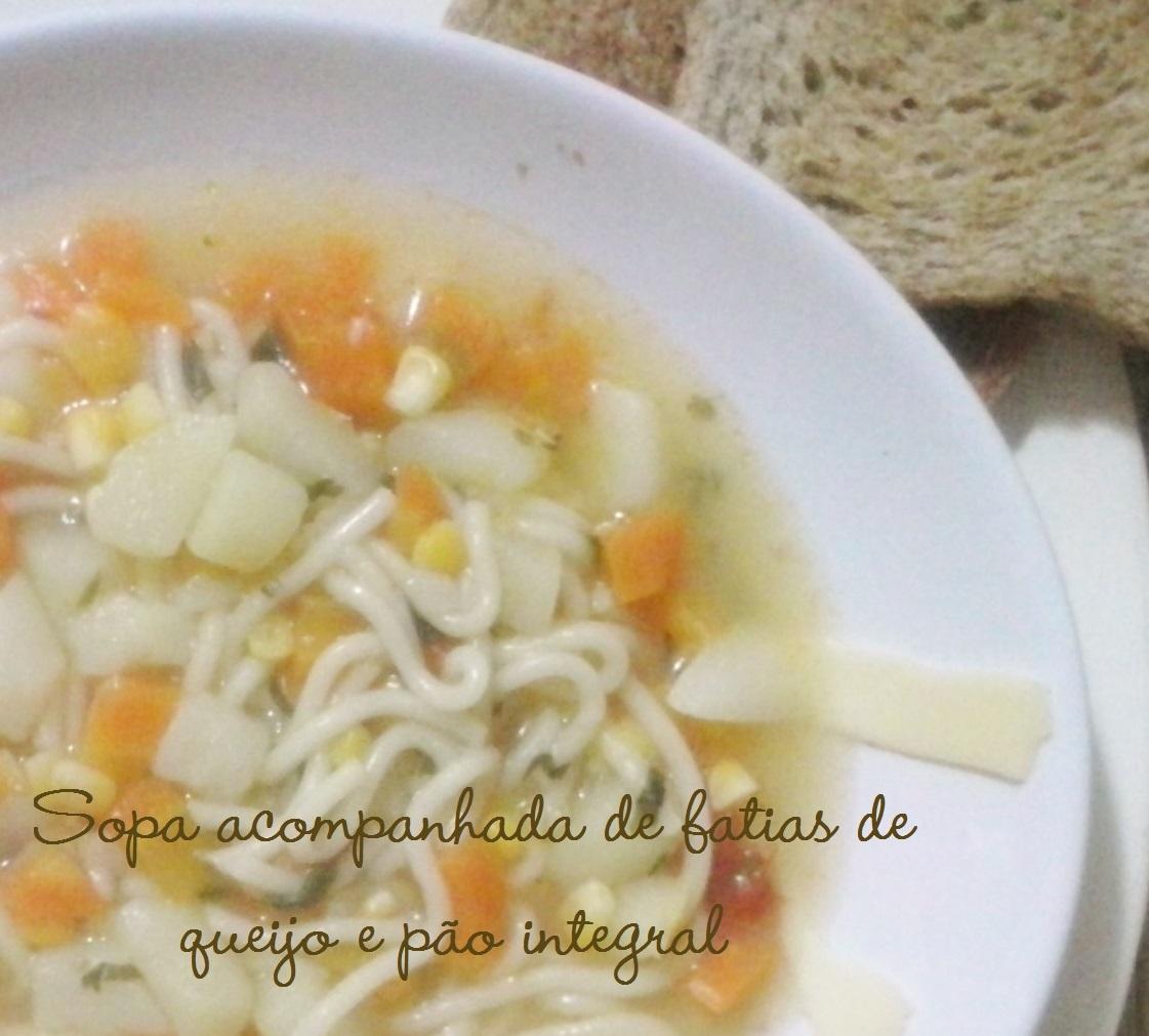 Sopa com sabor de infância