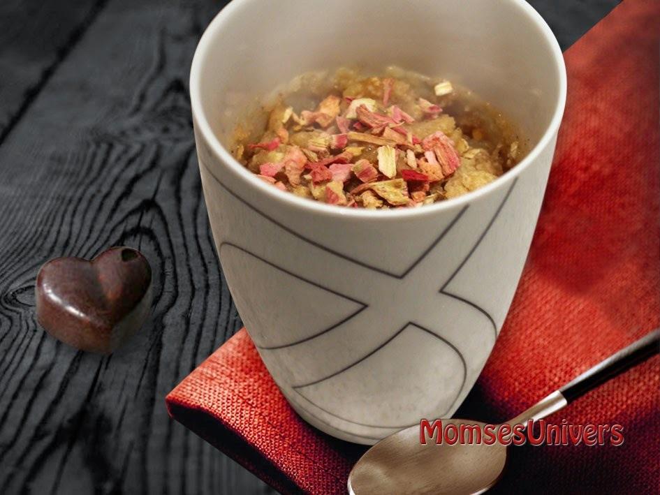 Lun æblekage/-crumble i krus