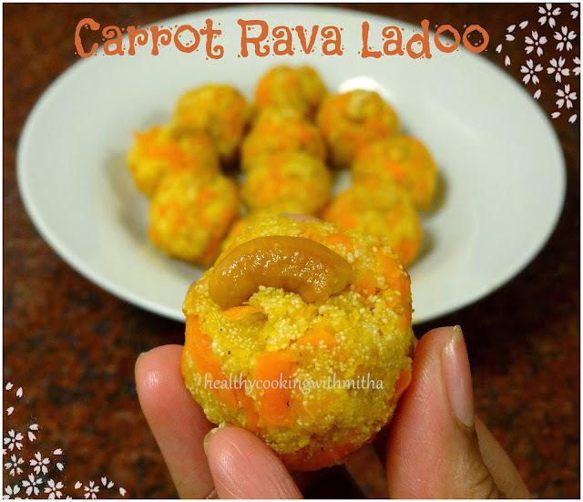 Carrot Rava Ladoo
