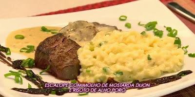 Receita: Escalope de filet mignon com molho de mostarda Dijon