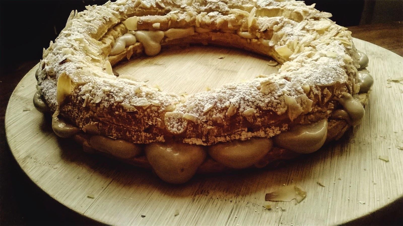 Paris-Brest con Crema Pastelera (muy fácil) de Café {Mi Primer Cumple Blog}