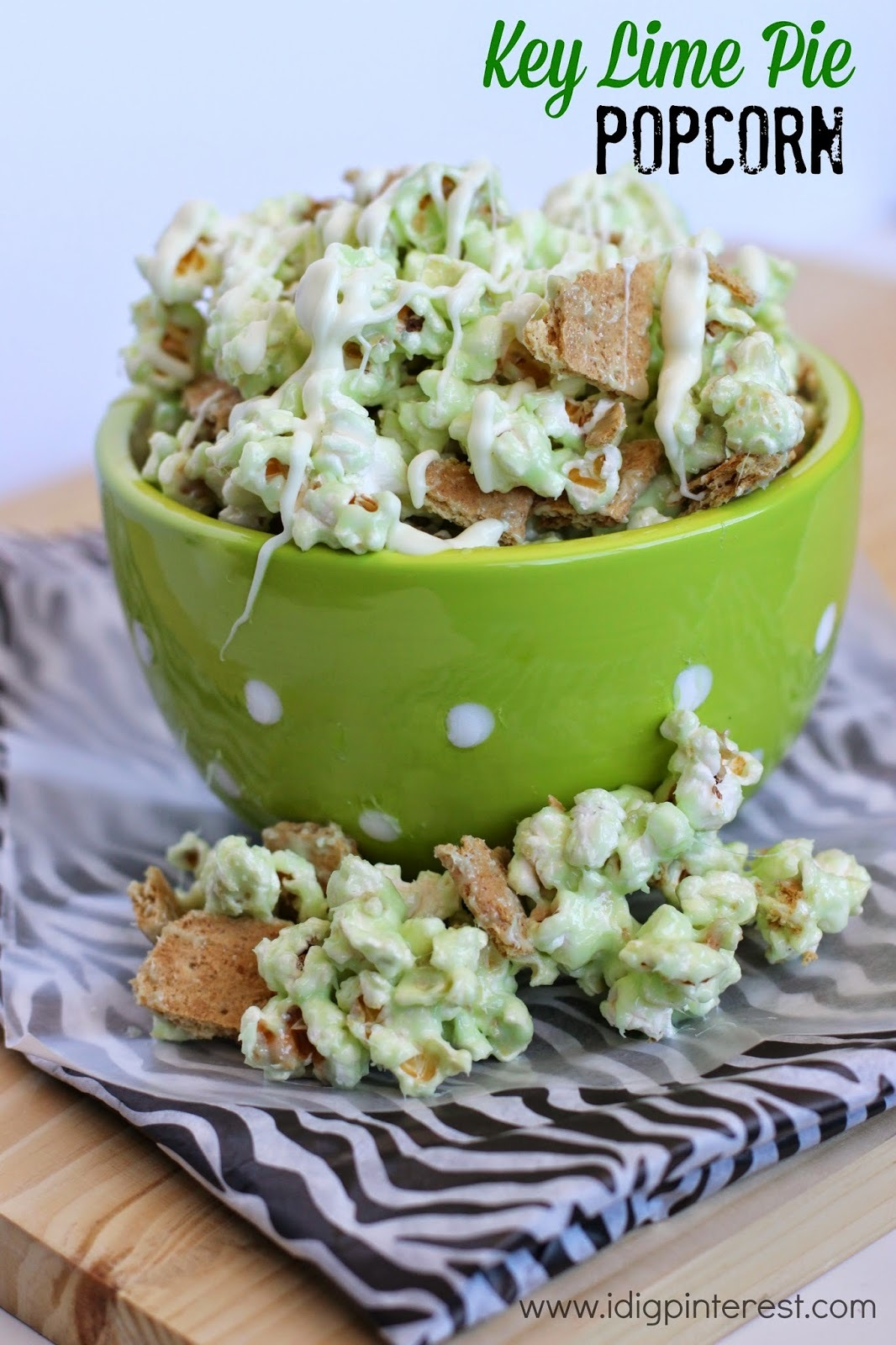 Key Lime Pie Popcorn: April Mystery Dish