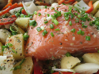 Salmão com Legumes e Guarda do Embaú