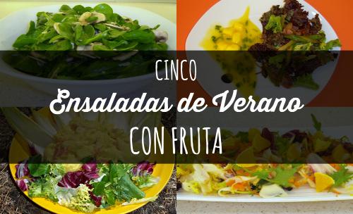 cinco ensaladas de verano con fruta {invitadas} #ponunaensalada