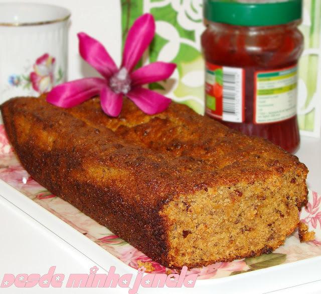 de bolo de banana com farinha de rosca e bicarbonato