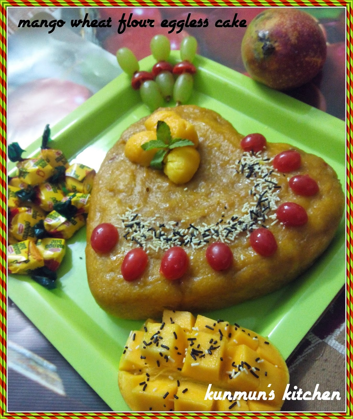Mango Wheatflour Egg Less Cake