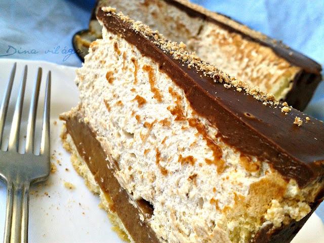 Mogyoróvajas, tejkaramellás, csokis linzertorta /Peanut butter, dulce de leche and chocolate cake