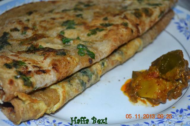 Egg/Omelette chapati (Paratha)