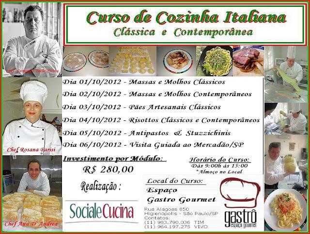 Curso Profissional de Cozinha Italiana