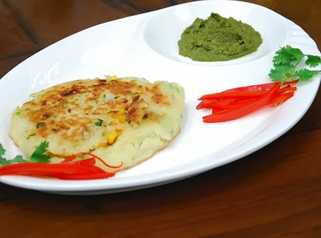 STUFFED CHEESE CORN APPAM
