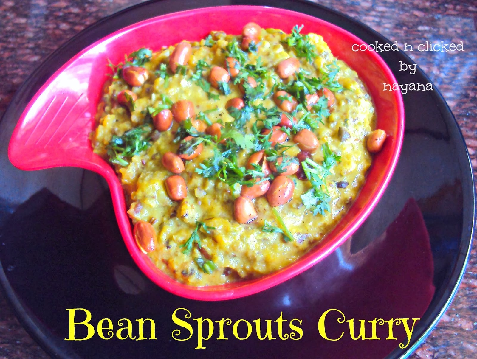 Sprouted Pulses Curry - Gujarati Style