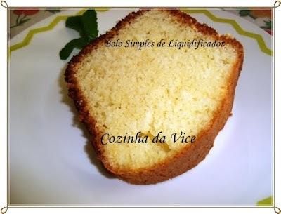 de bolo simples sem manteiga