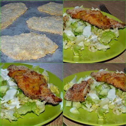 Sütőben sült gluténmentes rántott csirkemell