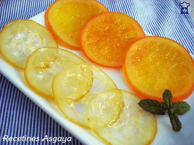 Naranja y Limón Confitados