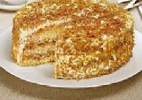 Torta de Coco Queimado e Laranja