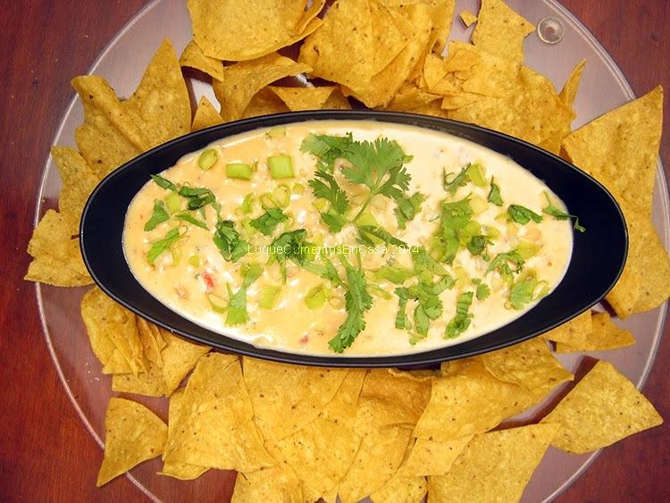 Salsa de queso cheddar para nachos