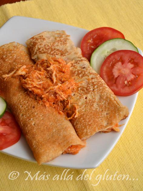 Crepes Salados con Pollo (Receta GFCFSF)