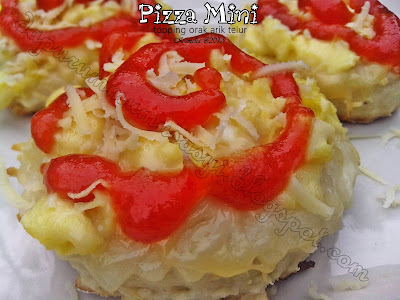 Pizza Mini topping Orak Arik Telur ( PR DA April 2013 )