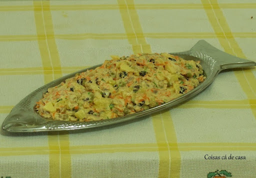 como fazer file de peixe desfiado na maionese cozido