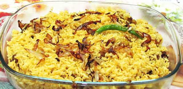Mutton Biryani (Rice layered with Spicy Mutton)