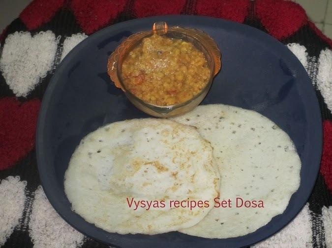 Set Dosa - Set Dosai - with vada kari- To prepare Soft Set Dosa's