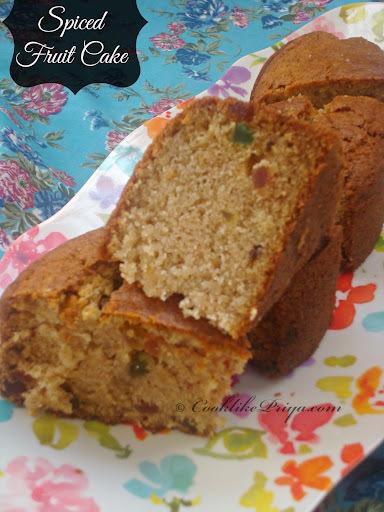 Buttermilk Fruit Cake | Eggless Tutti Frutti Cake | Eggless Plain Christmas Cake