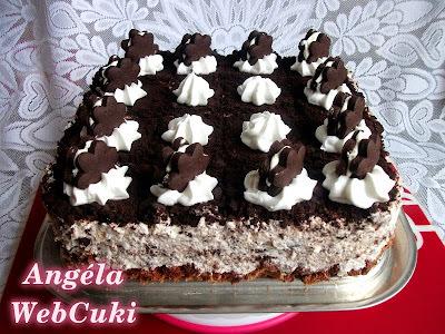 Házi oreo kekszes torta