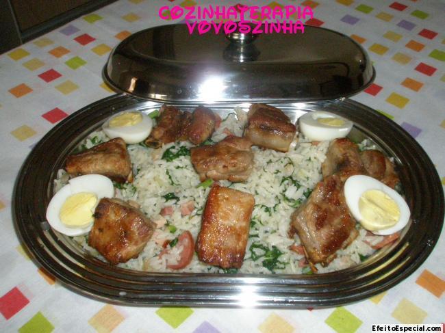 arroz mineiro com couve
