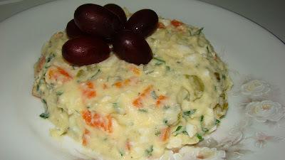 batata cozida maionese maionese cebola oregano